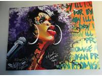 """Limited Edition Signed """"Erykah Badu"""" Giclee Artist's Proof Canvas."""