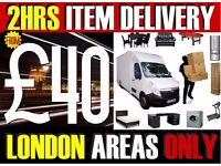 MAN AND VAN DELIVERY IKEA SOFA WARDROBE DINING TABLE FRIDGE LEATHER BED FRIDGE BLACK RUBBISH REMOVAL