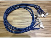 3 x 25 WAY D SUB. VAN DAMME 16 PAIR ANALOG BLUE SERIES BALANCED MULTICORE CABLE 3.1 METRES LONG