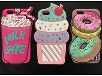 Bundle of iphone 6 phone case cover pink kitty cake cupcake food novelty