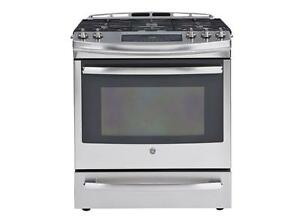 SELECTION OF GE GAS SLIDE IN STOVES! -- CANT BEAT THIS PRICE!