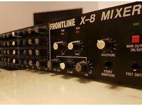Frontline x-8 rack mixer 8 channel