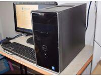 Dell Inspiron Full Desktop PC, i3 Quad Core CPU, 250GB SSD+2TB HDD, 8GB Ram, HD Graphics WiFi Win 10