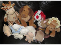 Soft/Stuffed/Cuddly Toys and a Hand Puppet - 9 Items - All Clean and in Excellent Condition