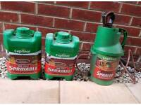 Cuprinol fence paint sprayer and 6l of brown paint