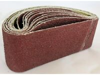 10x Sanding Belts 75 x 457 mm Grit36 - 120 abrasive sandpaper endless sander Wood metal Best Price