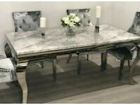 XMAS Sale Brand New Marble Dinning Table and Chairs Available