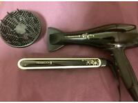 Remington hair dryer and straightener
