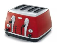 Delonghi Icona 4 Slice Toaster Red
