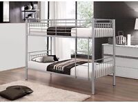 Attractive Design *** BRAND NEW SINGLE WHITE METAL BUNK BED THAT SPLITS INTO 2 SINGLE BEDS