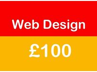 Web Design & free hosting for £100 with in one week ( Unlimited pages )
