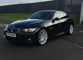 BMW 325i MSport Coupe, Automatic, Black/Black leather 12 months MOT