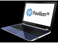 Nearly as new HP Pavilion 15-e040sa, AMD A4 Quad Core 1.5, 8G RAM, 750gb Hard Drive, Win 10