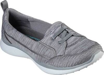 NEW Womens SKECHERS Microburst 2.0 Best Ever Gray KNIT FABRIC Slip On