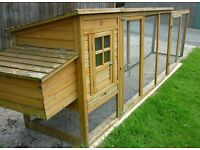Chicken coop for 3-4 medium birds-fully covered-opening roof-pull out tray for easy cleaning