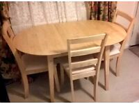Dining Table & 4 Chairs - £130