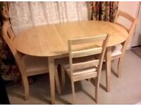 Dining Table & 4 Chairs - £100