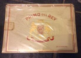 Sealed vintage Primo del Rey box and contents