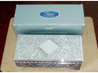 Silver Plated Juliana Collection Trinket/Keepsake Box