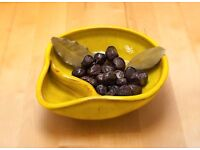NEW, Authentic HANDMADE Olive/Nuts & Pits BOWL, Ceramic Various Colours, W16 x D16 x H4.5 cm