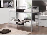 SUPER STRONG SINGLE METAL BUNK BED FRAME WITH LUXURY MATTRESS ***DELIVERED SAME DAY***