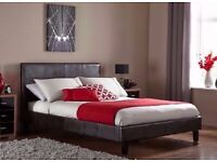 🔰Imported Furniture🔰(4ft6inch) Double & (5ft)King Size Leather Bed Frame W Opt Mattress-