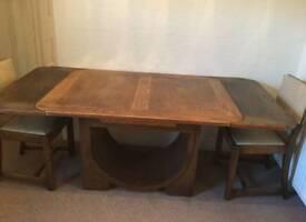 Vintage Dining Room Furniture, Table, chairs, sideboard, bureau.