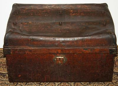 Antique Victorian Tin Travel Trunk Chest - FREE Delivery [PL1300]