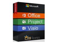 Microsoft office 2016/2013, Visio 2016, project 2016, Primavera P6 Full version