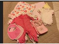 Newborn Baby Girl's Clothes Bundle