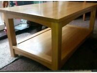 Solid oak Coffee table very good condition