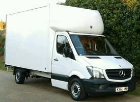 MERCEDES SPRINTER LUTON ONLY 77K 2013 TAIL LIFT FACE LIFT MODEL FORD TRANSIT IVECO DAILY