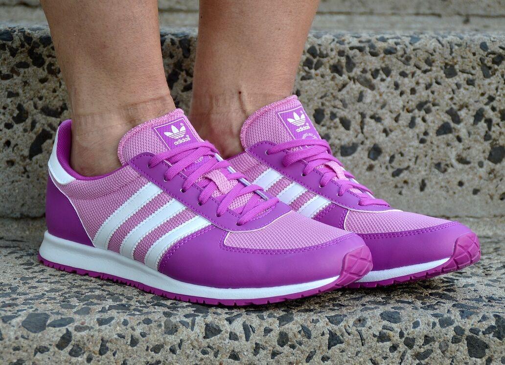 adidas ADISTAR RACER Damen Schuhe Laufschuhe Sneaker flux zx Shoes violett/weiß