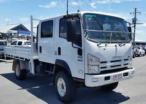 2010 Isuzu NPS 250 Crew 4x4 Dual Cab Tray Truck. Sitec Series 2, Southport Gold Coast City Preview