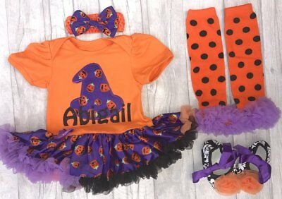 PERSONALISED HALLOWEEN WITCH tutu romper BABY GIRL costume FANCY DRESS Gift Cute (Baby Girl Witch Costumes)