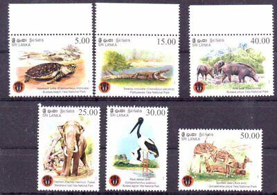 Stamps of Sri Lanka 2013   # 1956-61   MNH 10.-Euro animals sets