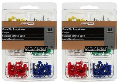 216 Count Push Pin Assortment Multi Color 38 Head