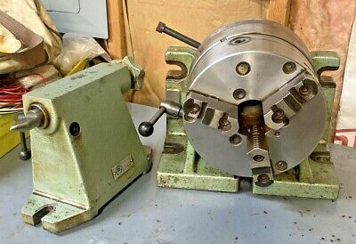 Bison 8 Horizontal Vertical Rotary Indexing Super Spacer W Chuck Tail Stock