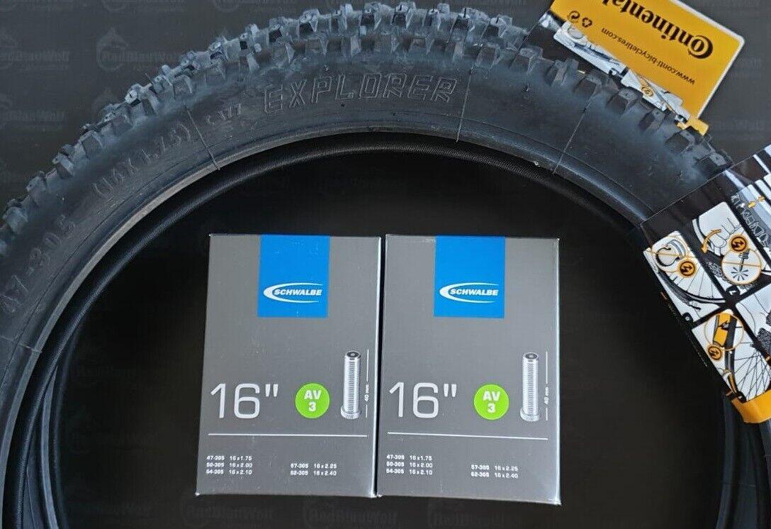 47-305 inkl 2x Fahrradreifen Mitas 16 Zoll Reifen 2 x Schlauch DV 16 x 1.75