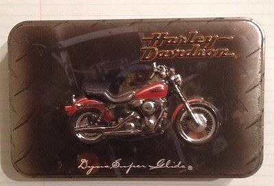 1999 Limited Edition Harley Davidson 2 Deck Playing Cards & Tin