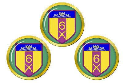 6 Infantry Irlandés Defensa Fuerzas Pelota Golf Marcadores