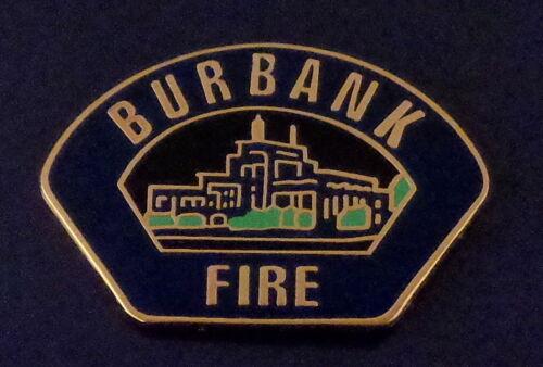 Burbank CA California Fire Dept patch LAPEL PIN