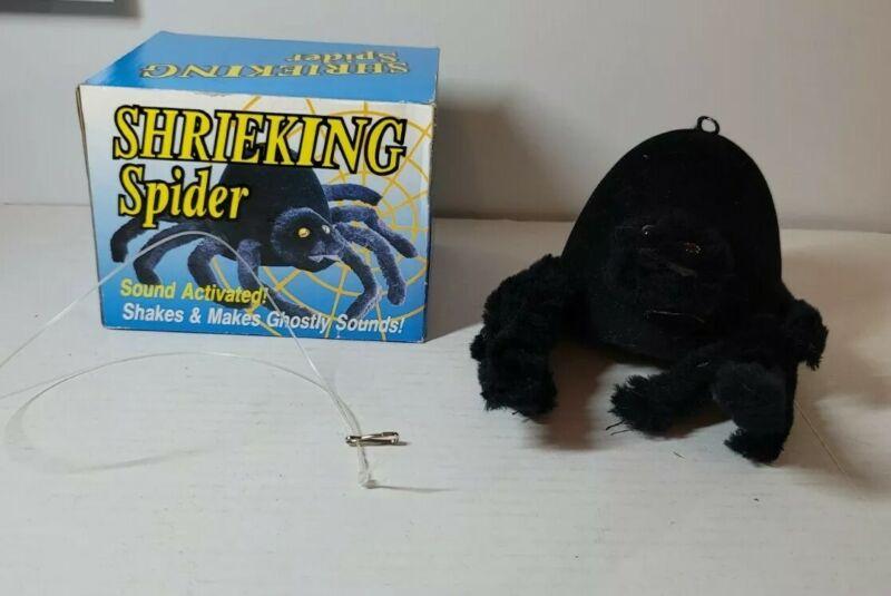 Vintage Gemmy 1991 Shrieking Spider Halloween Decoration Sound Activated *WORKS*