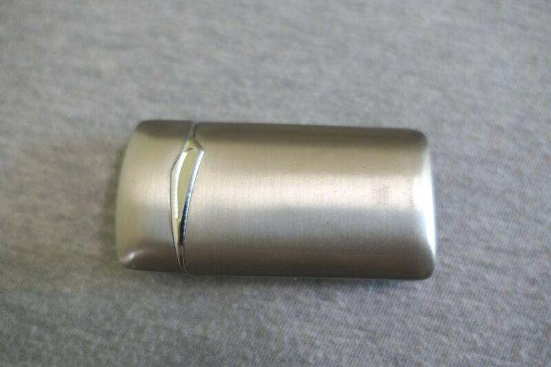 Elegant Slim Polished Chrome Butane Lighter Works