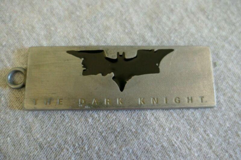 2008 Warner Steel Bros The Dark Knight Batman Key Ring Keychain Watch Fob Tag