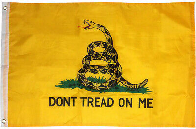 2x3 Gadsden Don't Tread on Me Flag 2'x3' House Banner grommets Super polyester  for sale  Pinellas Park