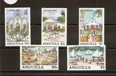 Anguilla 1992 SG879-883 5v NHM Easter Scenes and Events on Anguilla-as featured