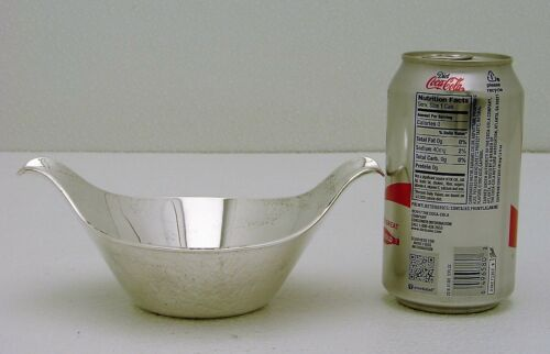 Midcentury Modern Cohr Denmark Sterling Silver Sauce or Gravy Bowl