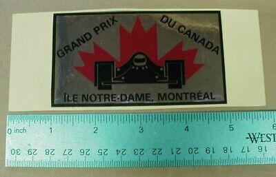 Vtg Chrome Grand Prix Montreal Canada Notre-Dame Formula 1 Racing Decal Sticker