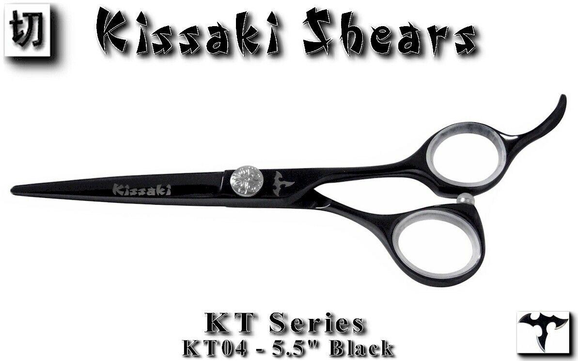 "Kissaki KT Series 04 5.5"" Black Titanium Hair Cutting Scisso"